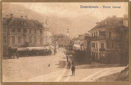 DOMODOSSOLA - PIAZZA CAVOUR - FORMATO PICCOLO - VIAGGIATA 1923 - (rif. V67) - Verbania