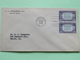 USA 1943 FDC Cover To Easton - Flags - Greece - Verenigde Staten