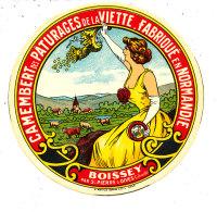 P 167 -  ETIQUETTE DE FROMAGE   -  CAMEMBERT   DES PATURAGES DE LA VIETTE BOISSEY  PAR ST PIERRE SUR DIVES (CALVADOS) - Fromage