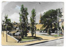Cpsm: 36 ARGENTON SUR CREUSE (ar. Chateauroux) Parc Autos De Scévole Rue Auciert Descotte (Peugeot 203) 195?  N° 350 - Autres Communes