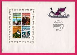 Enveloppe - FDC - Block - Helvetia - 2000 Ans De Tourisme - Traineau - Bern - 1987 - FDC