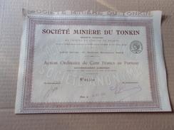 MINIERE DU TONKIN - Aandelen