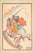 Hippisme Signé Dorette Muller Format 9/14 - Künstlerkarten
