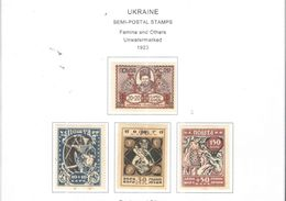 Ucraina 1923 Semipostal  Valore 04 Nuovi   Scott.B1/B4  See Scans - Ucrania