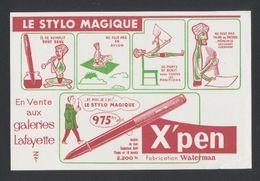 Buvard - STYLO MAGIQUE - X PEN - WATERMAN - Buvards, Protège-cahiers Illustrés
