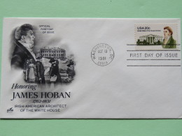 USA 1981 FDC Cover - James Hoban - Irish American Architect Of The White House - United States
