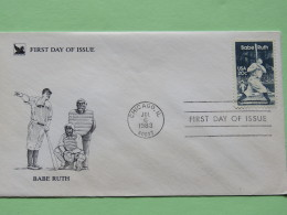 USA 1983 FDC Cover - Babe Ruth - Baseball - Lettres & Documents