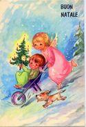Buon Natale - Bambini Con Cariola E Cane - 67410-2 - Formato Grande Non Viaggiata - Ar - Natale