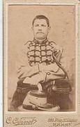 PHOTO CDV 19 EME MILITAIRE SOLDAT 15 SUR LE COL    Cabinet  ODINOT  A NANCY - Guerre, Militaire