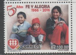 BOLIVIA, 2016, MNH, CHILDREN, EDUCATION, FE Y ALEGRIA, 1v , HIGH FV, - Other