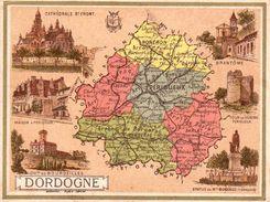 Carton Département De La Dordogne / 11.5 X 8.7 Cm / Librairie Hachette / Infos Au Verso / 2 Scan - Geographical Maps