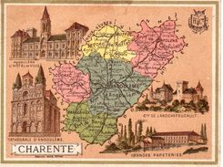 Carton Département De La Charente / 11.5 X 8.7 Cm / Librairie Hachette / Infos Au Verso / 2 Scan - Geographical Maps