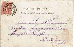 CTN-51B / AMBULANT LA FLECHE A ANGERS 9/10/1904 - Railway Post