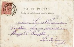 CTN-51B / AMBULANT LA FLECHE A ANGERS 9/10/1904 - Postmark Collection (Covers)