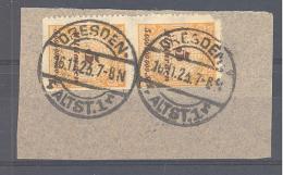 Reich  Michel #  327 B Auf Briefstück Mit Ortstempel Dresden 16.11.23 - Gebruikt