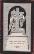 Petrus Van Eck Diest 1821 1906 Webbecom Ange Angel Litho Doodsprentje Image Mortuaire - Images Religieuses