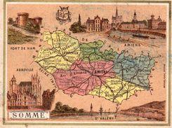 Carte Cartonnée Département De La Somme / 11.5 X 8.7 Cm / Librairie Hachette / Infos Au Verso / 2 Scan - Geographical Maps