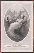 Barbe Daemen Brahm Eeckeren Anvers 1823 1905 Spes Fides Caritas Boumard Paris Litho Doodsprentje Image Mortuaire - Images Religieuses