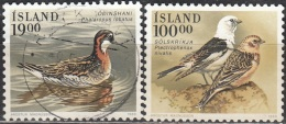 Island 1986 Michel 697 - 698 O Cote (2013) 5.00 Euro Oiseaux Cachet Rond - 1944-... Republik