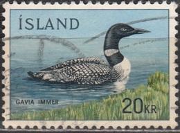 Island 1967 Michel 408 O Cote (2013) 5.00 Euro Oiseau Plongeon Huard Cachet Rond - 1944-... Republik