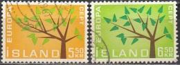 Island 1962 Michel 364 - 365 O Cote (2013) 0.80 Euro Europa CEPT Cachet Rond - 1944-... Republik