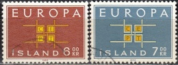 Island 1963 Michel 373 - 374 O Cote (2013) 1.60 Euro Europa CEPT Cachet Rond - 1944-... Republik