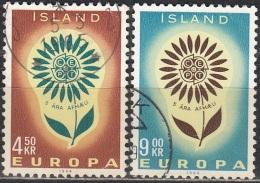 Island 1964 Michel 385 - 386 O Cote (2013) 1.00 Euro Europa CEPT Cachet Rond - 1944-... Republik