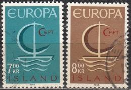 Island 1966 Michel 404 - 405 O Cote (2013) 3.00 Euro Europa CEPT Cachet Rond - 1944-... Republik