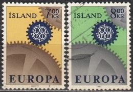 Island 1967 Michel 409 - 410 O Cote (2013) 2.00 Euro Europa CEPT Cachet Rond - 1944-... Republique