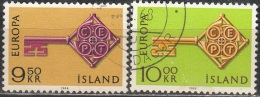 Island 1968 Michel 417 - 418 O Cote (2013) 2.00 Euro Europa CEPT Cachet Rond - 1944-... Republik