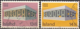 Island 1969 Michel 428 - 429 O Cote (2013) 4.00 Euro Europa CEPT Cachet Rond - 1944-... Republique