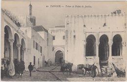 Maroc - Tanger - Lot De 2 CPA  - Architecture  Trésor Et Palais De Justice  + Rue Arabe . Voir 2 SCANS - Tanger