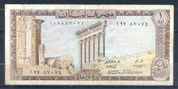 506-Liban Billet De 1 Livre 1973 - Liban
