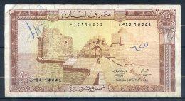 506-Liban Billet De 25 Livres 1974 - Liban