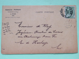 Belgium 1901 Postcard Liege To Hesbaye Arms - 1893-1907 Coat Of Arms