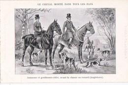 CPA Illustrée Série Le CHEVAL Monté  CHASSE Au RENARD En ANGLETERRE Amazone Gentlemen Rider CHIENS De CHASSE - Chasse