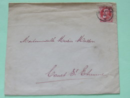Belgium 1912 Cover To Court St. Etienne - King Leopold II - 1905 Thick Beard