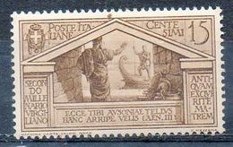 ITALIE (Royaume) - 1930 - N° 263 - 15 C. Brun - (Bimillénaire De La Naissance De Virgile) - Nuovi