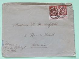 Belgium 1913 Cover Averborde To Louvain - Lion - 1912 Pellens