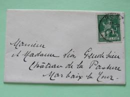 Belgium 1913 Small Cover To Marbaix-la-Tour - Lion - 1912 Pellens