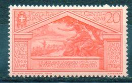 ITALIE (Royaume) - 1930 - N° 264 - 20 C. Rouge-orange - (Bimillénaire De La Naissance De Virgile) - Nuovi