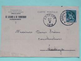 Belgium 1914 Postcard Audenarde To Ladeuze -lion - 1912 Pellens