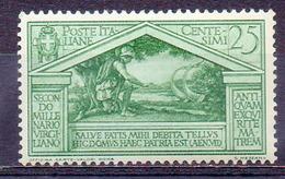 ITALIE (Royaume) - 1930 - N° 265 - 25 C. Vert - (Bimillénaire De La Naissance De Virgile) - Nuovi