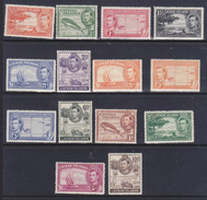 Cayman  Re Giorgio VI   1937-47   Serie Cpl 14 Val  Yv 104-15 + 118-19  MLH * /**. - Cayman (Isole)