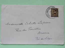 Belgium 1933 Cover Knocke To Bressoux - King Albert I - 1931-1934 Kepi