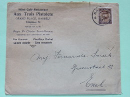 Belgium 1933 Cover Hasselt To Exel - King Albert I - 1931-1934 Kepi