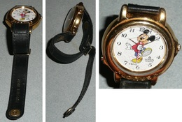 Rare Montre à Quartz Mickey Walt Disney LORUS, Bracelet Cuir - Advertisement Watches