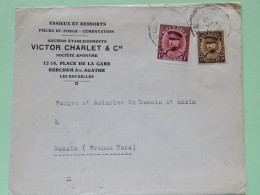 Belgium 1933 Cover Ste. Agathe To Denain France - King Albert I - 1931-1934 Kepi