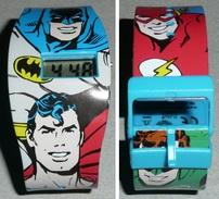 Montre Quartz Super-héros DC Comics Bracelet Plastique Superman Batman Flash - Montres Publicitaires