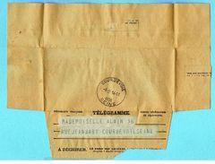 Télégramme 14 Novembre 1936 Longvic Les Dijon - Militaire - Permission Refusée - Telegraph And Telephone